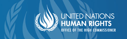 Banner and logo of the United Nations Human Rights Office of the High Commissioner