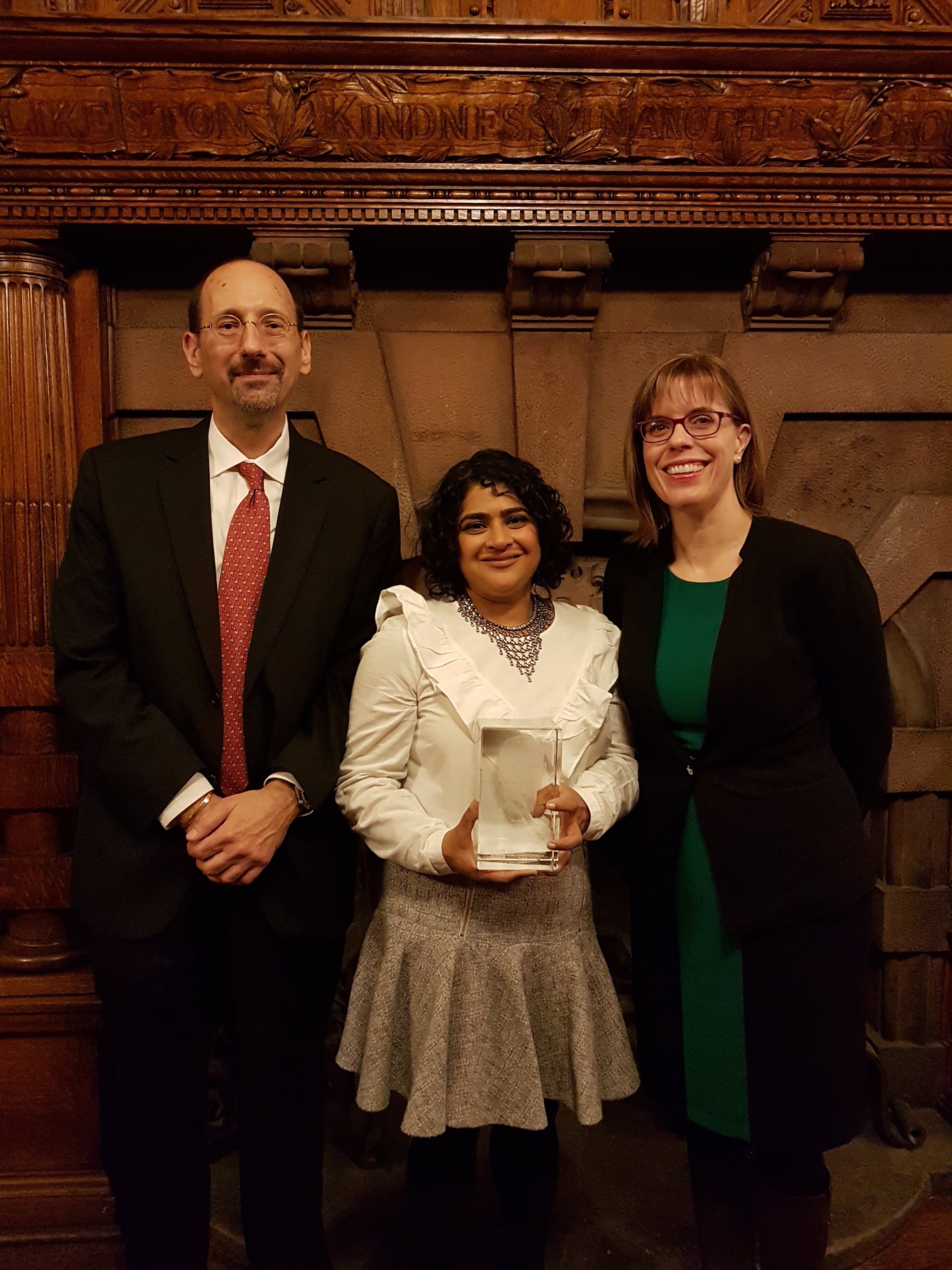 Photo Left to Right: Dr. Ivan Zinger, Renu Mandhane, and Marie-France Kingsley