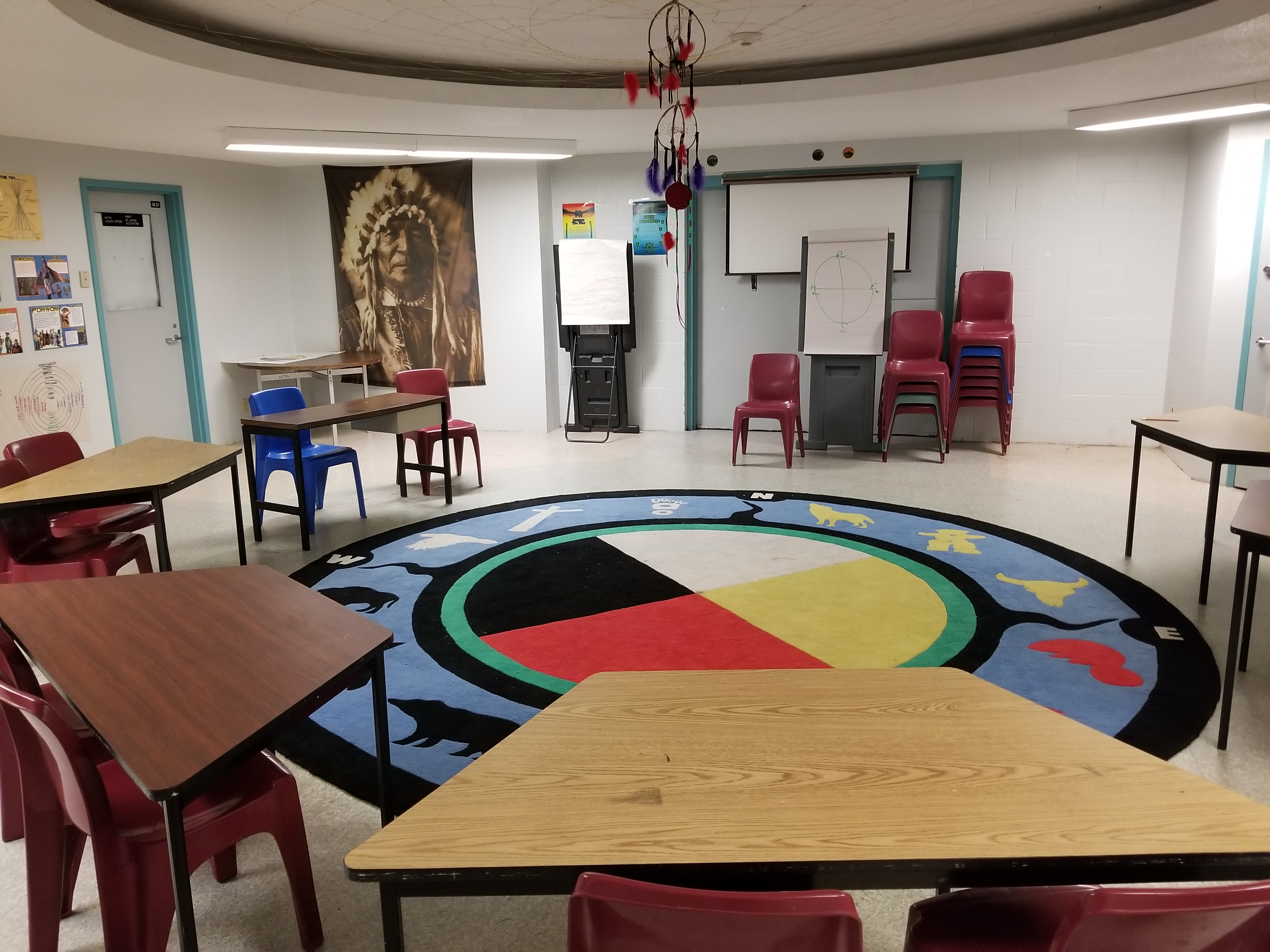 Indigenous cultural centre used for Therapeutic Range programs at Edmonton Institution