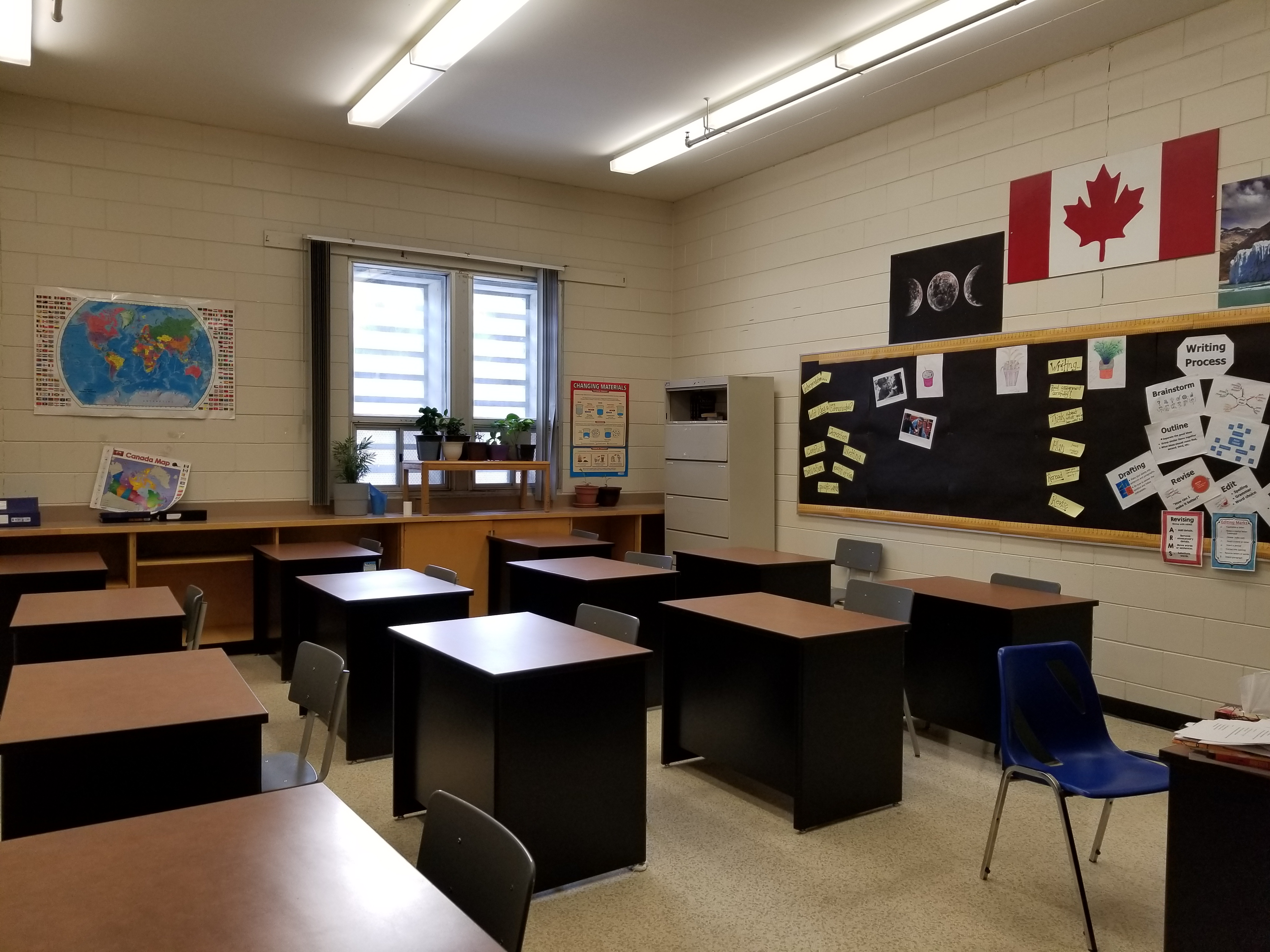Photo of a classroom at Stony Mountain Institution.
