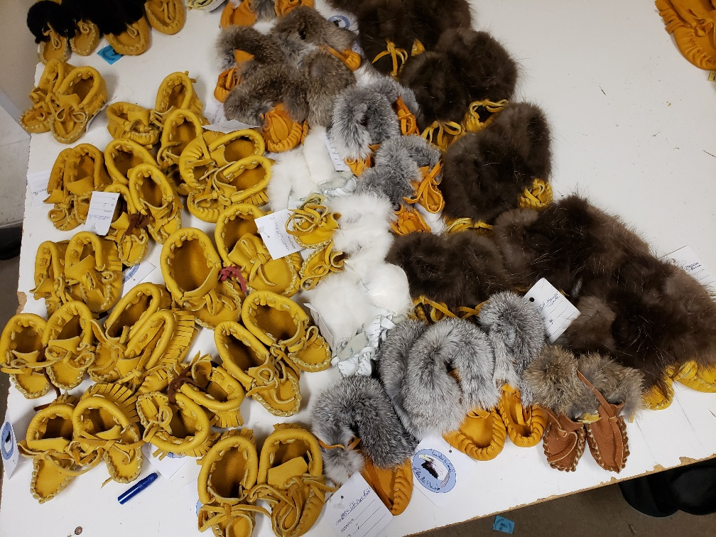 Photo of completed moccasins at CORCAN in Pacific Region