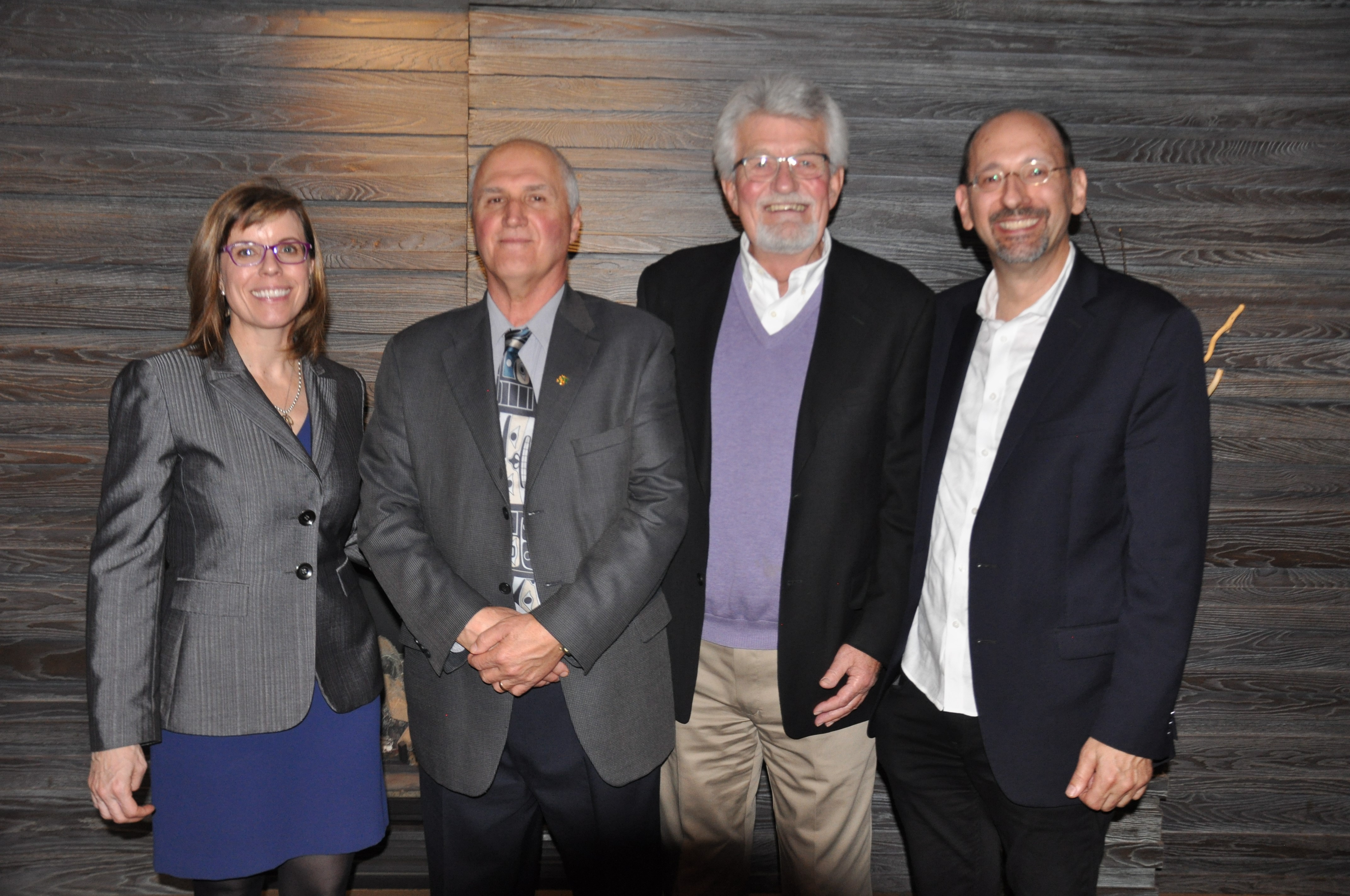 Photo of (from left to right) Marie-France Kingsley, George Myette, Ed McIsaac, and Dr. Ivan Zinger.
