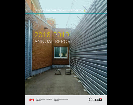 Annual Report of the Office of the Correctional Investigator 2018-2019